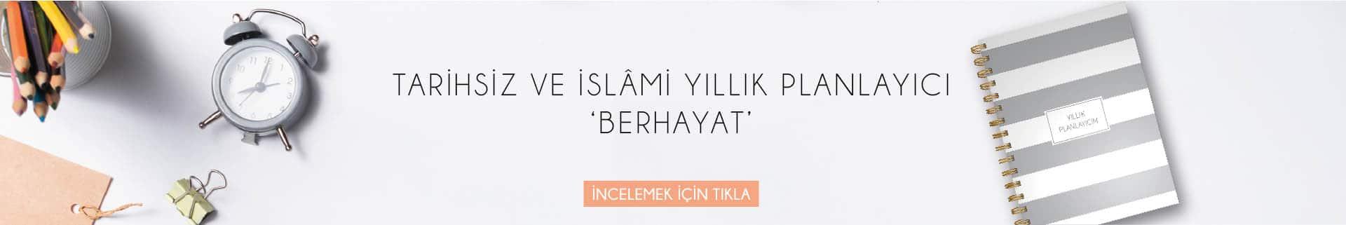 Berhayât Tarihsiz ve İslami Yıllık Planlayıcı